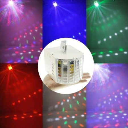 18W SOUND-ACTIVE LED RGBW DMX AMBIENT STAGE LIGHTING DJ PARTY SHOW EFFECT LIGHT