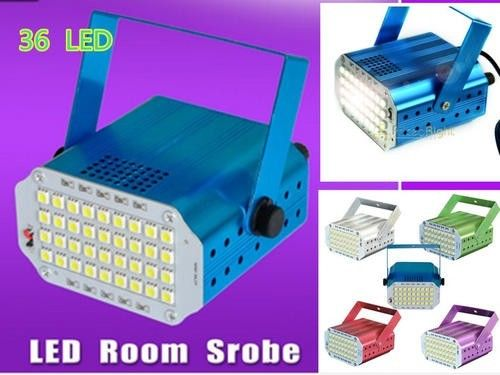10W SOUND ACTIVED AUTO 36PCS 5050 SMD WHITE LEDS STROBE VARIABLE SPEED LIGHTS FOR DJ SHOW
