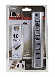 10 PORT USB 2.0 PLUG & PLAY