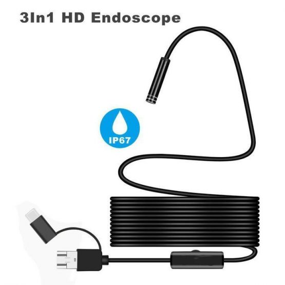 3 IN 1 ENDOSCOPE (USB, MICRO USB, AND C-TYPE)