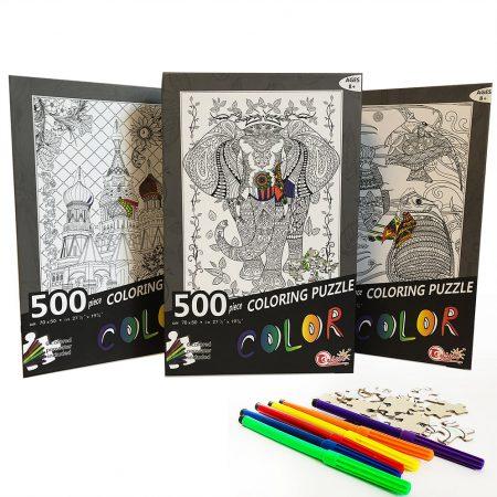500 PIECE COLORING PUZZLE