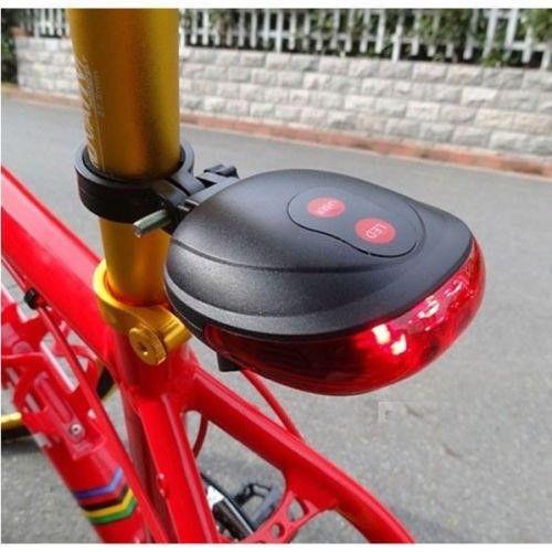 2 LASER +5 LED FLASHING LAMP REAR CYCLING BICYCLE BIKE TAIL SAFETY WARNING LIGHT