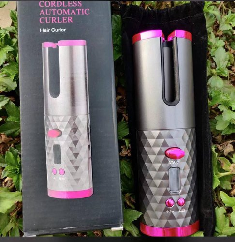 2 IN 1 WIRELESS AUTOMATIC HAIR CURLER WITH POWER BANK