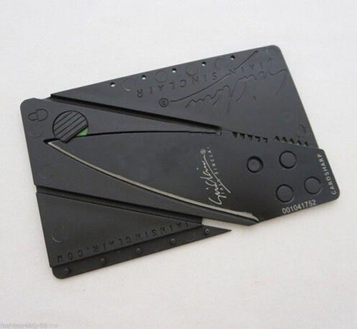 CARDSHARP CREDIT CARD FOLDING RAZOR SHARP WALLET KNIFE SURVIVAL TOOL THIN