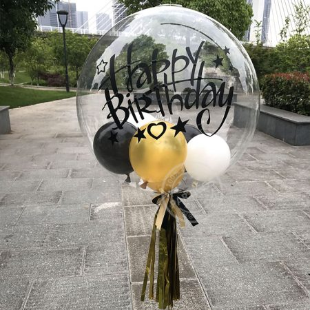 18 INCH CLEAR LATEX BALLOONS BIRTHDAY/WEDDING PARTY TRANSPARENT BALLOONS – 4 PACK