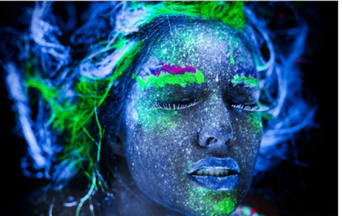 6 COLOURS NEON FACE PAINT BODY ART PAINT NATURAL WATER WASHABLE MATERIAL – PARTY MAKE UP