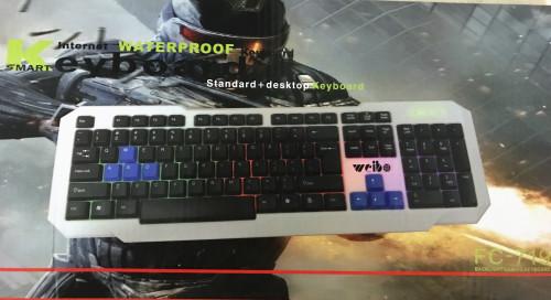 104 KEY RGB LED GLOWING BACKLIT USB KEYBOARD FOR PC