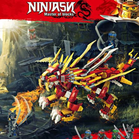 2019 800PCS NINJA BURNING LION BUILDING BLOCKS COMPATIBLE WITH LEGO ETC , WITH FIGURINES