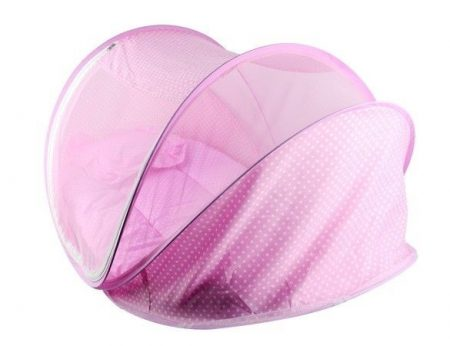 BABY'S POP UP MOSQUITO NET CRIB,BABY TENT,BEACH PLAY TENT,BED PLAYPEN(WITH PILLOW&MATTRESS)