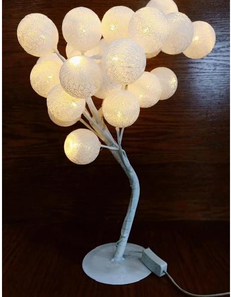 20 COTTON BALL LIGHT TREE