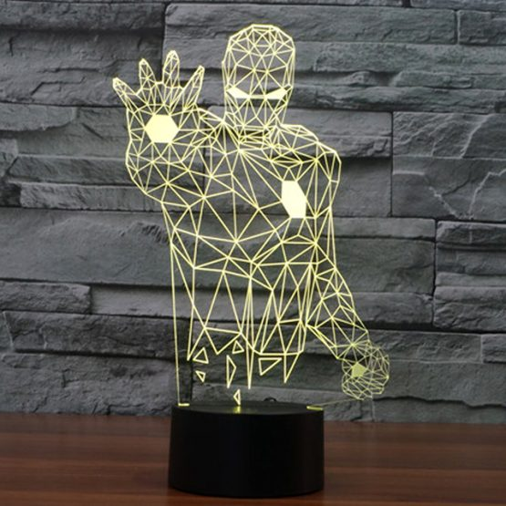 3D OPTICAL ILLUSION CHARACTER BEDSIDE / DECOR LAMP