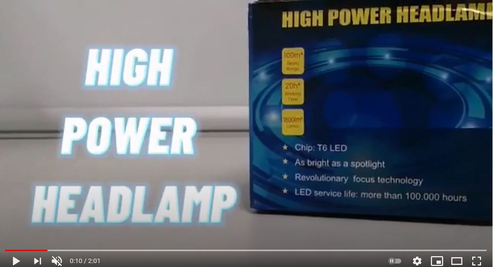 Read more about the article T6 Headlamp Unboxing Video